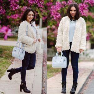 H&M White Fur Coat